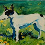 Fossie in the Sun the Small Version, oil on panel, M Vaught 2-2011