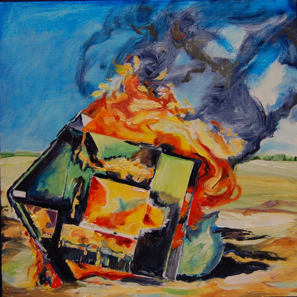 Burning On - Painting by Martha Vaught