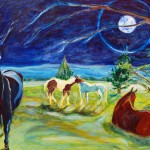 """Equine Nocturne"" Martha Vaught oil on panel Oct 2011"