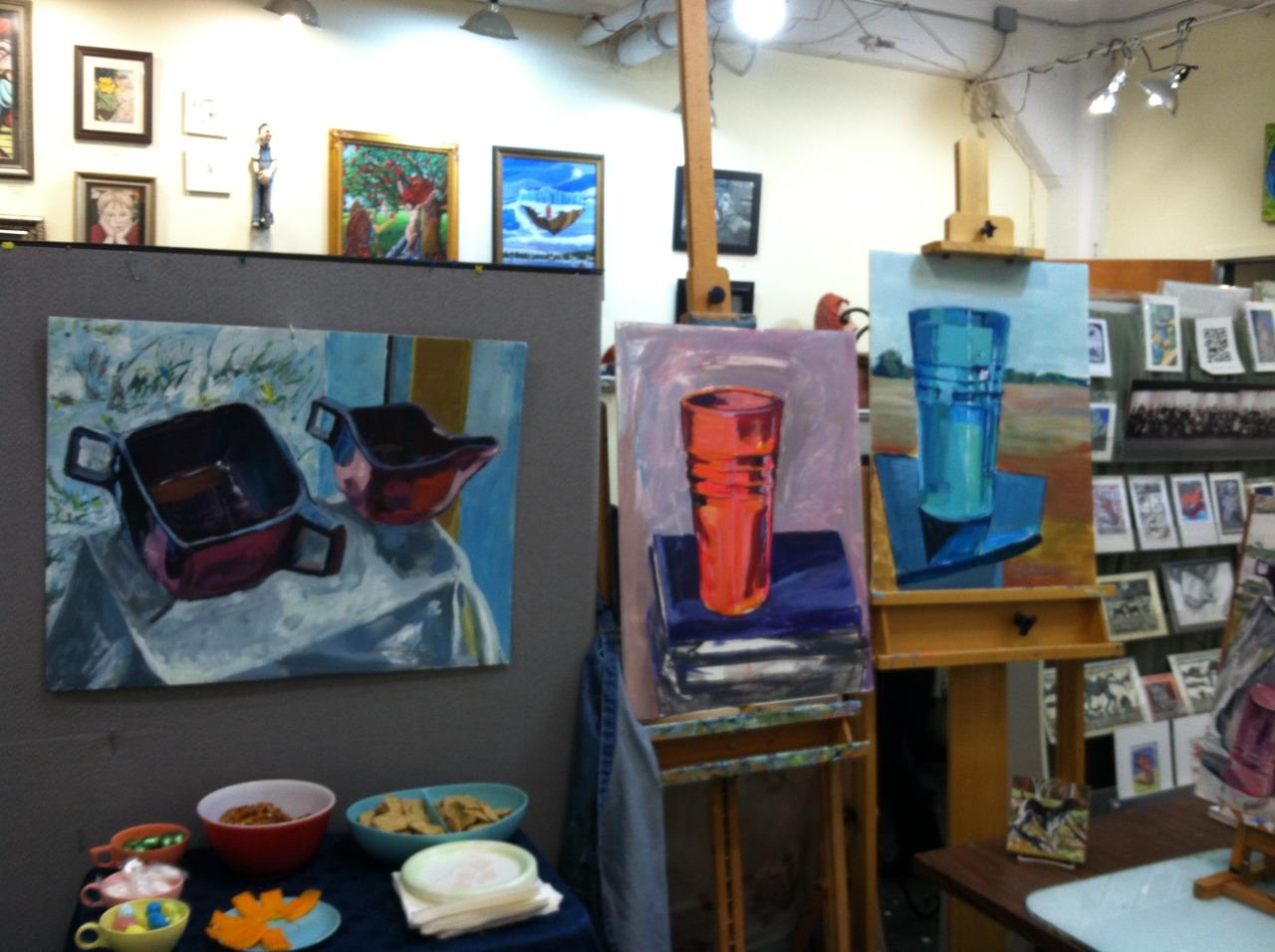 Photo of Martha Lindenborg Vaught's studio