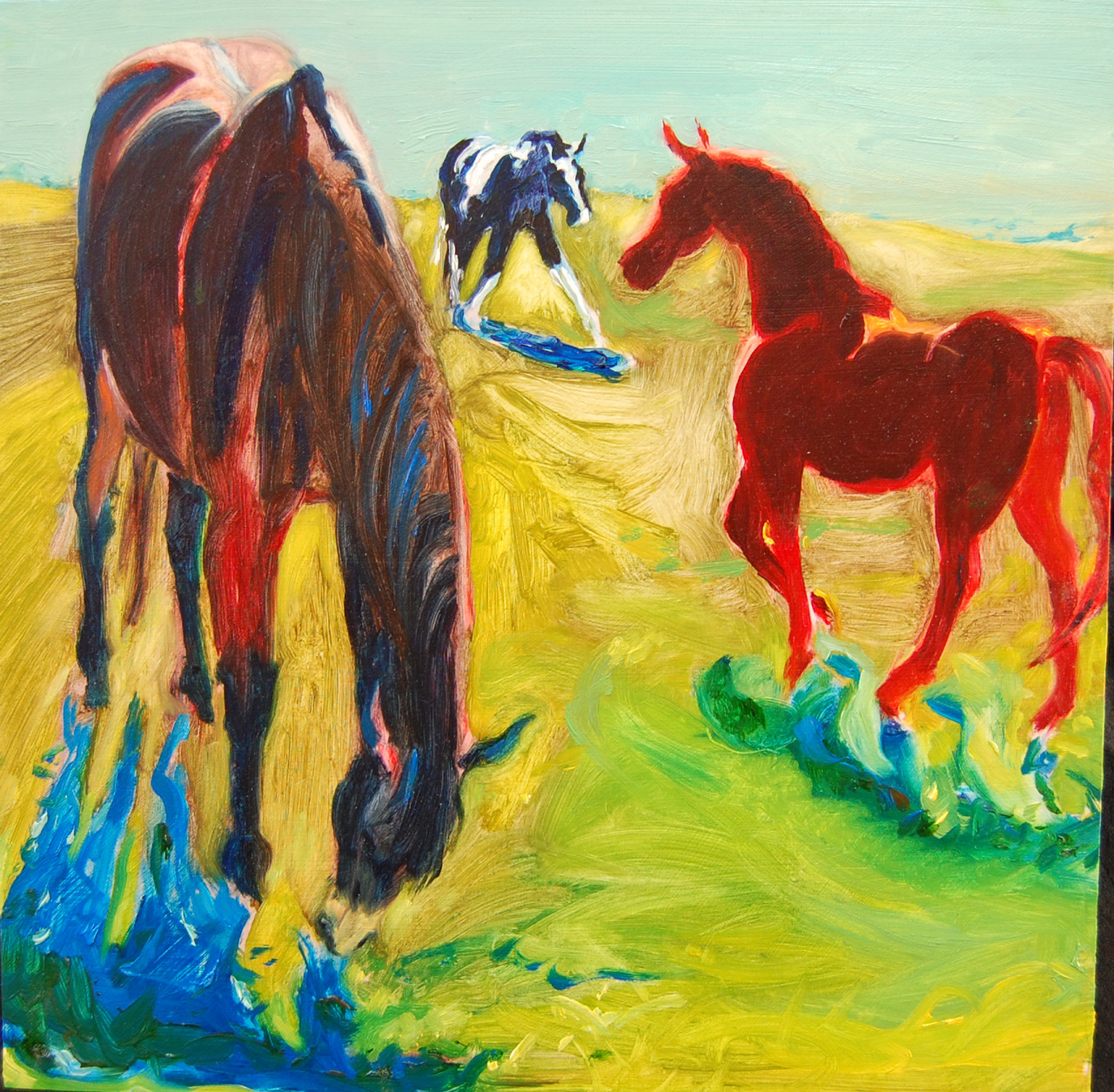 Painting by Martha Lindenborg Vaught