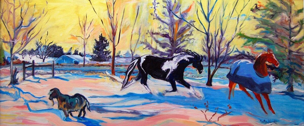 Horses in Winter by Martha Lindenborg Vaught