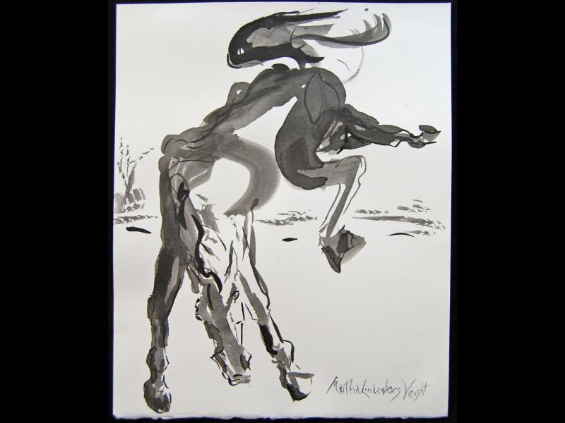 Ink wash by Martha Lindenborg Vaught