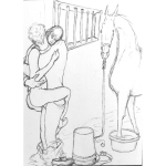 Love In the Stall, Robin and Aggie by Martha Lindenborg Vaught