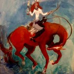 Rising Redheads -- painting by Martha Lindenborg Vaught