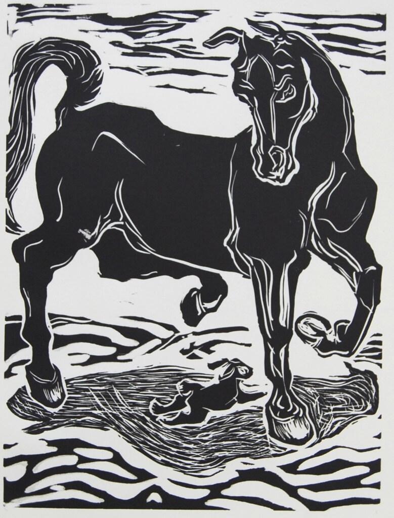 Shelter, Rabbit and Horse by Martha Lindenborg Vaught